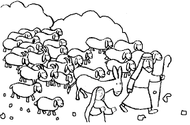 Small Picture Good Shepherd And Lost Sheep Parable Coloring Pages Coloring Home