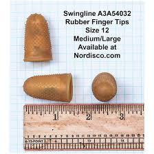 Rubber Finger Tip Size Chart Swingline 54032 Rubber Finger Tips Size 12 Medium Large