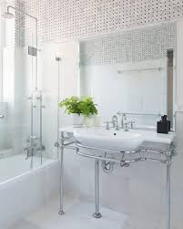 the existing bath and basin were resurfaced giving new life to the space without