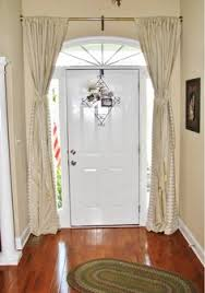 curtains for front doorthe relaxed home I believe most any room can benefit from adding