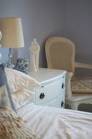 white painted bedside tables