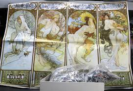 2000 pcs set museum collection the famous painting of world mucha four seasons high quality puzzle best for child in puzzles from toys hobbies on