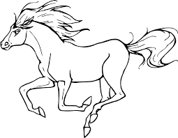 Coloriage Cheval Au Grand Galop Imprimer Sur Coloriages Info
