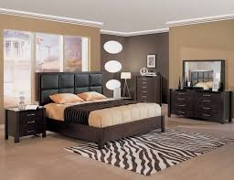 Brown bedroom paint colors with black furniture