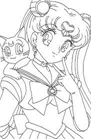 Small Picture Sailor Moon Series Coloring Pages Sailor Mercury and Sailor Mars