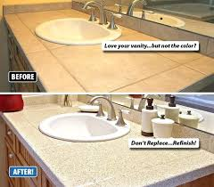 bathroom countertop replacement bathroom sink refinishing with miracle method will save you up to or more