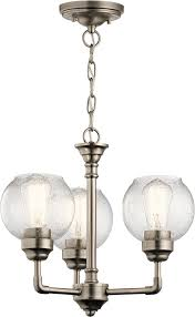 kichler 43992ap niles contemporary antique pewter mini hanging chandelier loading zoom