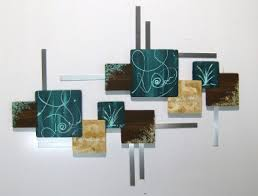 beautiful contemporary abstract floral wall sculpture by divaart69 425 00 on brown and teal metal wall art with huge and beautiful contemporary abstract floral design dk teal aqua