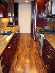 kitchen ideas wood cabinets. Galley Kitchen Ideas \u2013 Functional Solutions For Long, Narrow Spaces Wood Cabinets W