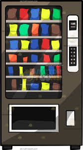 Vending Machine Snacks Gorgeous Front View Of A Snack Vending Machine Clipart by Vector Toons