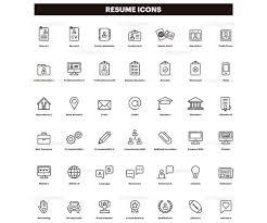 Resume Icons Inspiration Resume Icons CV Clip Art Curriculum Clipart Set Of Icons Etsy