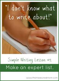 Make An Expert List A Prewriting Strategy For Kids The Measured Mom