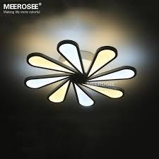 impressive bright ceiling light fixtures modern led ceiling light 8 lights led white acrylic recessed