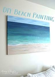 diy canvas painting ideas for beginners cool art bedroom decorating excellent beach and charming wall