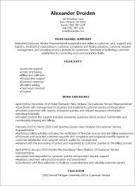 Customer Service Representative Resume Gallery For Website Samples