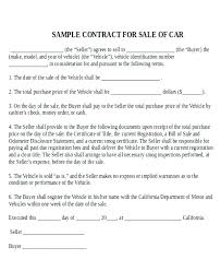 Vehicle Sales Agreement Adorable Purchase Sale Agreement Template
