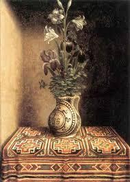 hans memling flower still life on memling gul rug