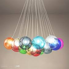 colorful glass ball g4 led chandelier lamp 3 31heads of glass throughout colorful chandeliers