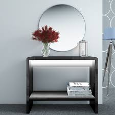 image is loading new modern black high gloss led console table