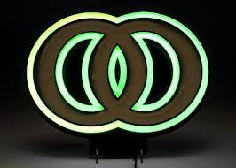 Kool Cigarette Neon Sign in an Art Deco Design   EBTH
