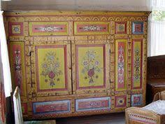 traditional swedish furniture. Wonderful Old Swedish Cabinet Painted Bright Yellow With Traditional Kurbits Designs The Room Also Has Throughout Furniture