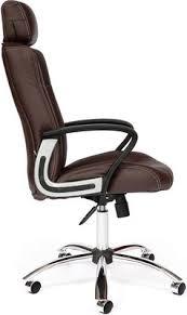 <b>Кресло Tetchair OXFORD хром</b> (кож/зам, коричневый/коричневый ...