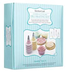 Cupcake Kitchen Decorations Sweetly Does It Cookie And Cupcake Decorating Kit Amazoncouk