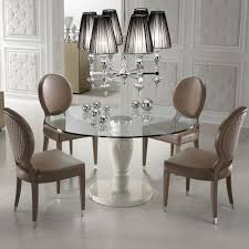 designer round gl dining table