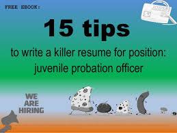 Probation Officer Resumes Juvenile Probation Officer Resume Sample Pdf Ebook Free Download