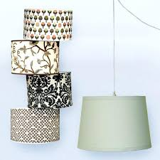 plug in swag chandelier elegant drum shades for pendant hanging lights and cord convert lamp ideas