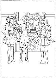 Disegni Da Colorare Di Barbie E L Accademia Delle Principe