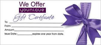 Younique Gift Certificate Template Gift Certificate Younique Products Pinterest Younique Gifts