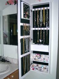 wall mirror jewellery cabinet mounted mirrored organiser full length with jewelry storage wall mirror jewellery cabinet
