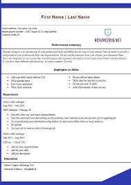 free standard resume examples free job resume examples
