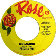 Priscilla Page - My Letter / Dreaming - Rose-G - USA - 500 - 45cat