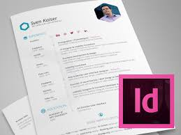 Indesign Resume Template Adorable InDesign Template Free Hexagon VitaResumeCV By Sven Kaiser