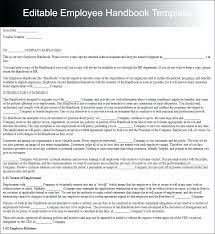Training Manual Template Free Sample Example Format Handbook