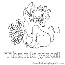 Thank You Card Coloring Page Also Thank You Coloring Pages Printable