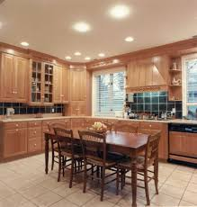 amazing lighting ideas for simple kitchen with dining chairs and table
