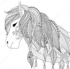 25 Idee Kleurplaten Voor Volwassenen Paarden Mandala Kleurplaat