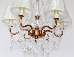 antique brass chandelier with crystal