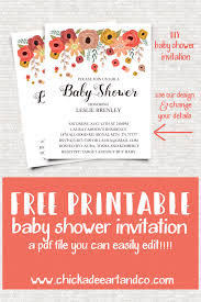 Free Baby Shower Invitations Printable Free Floral Baby Shower Invitation Free Printables Baby Shower