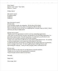 Letter Of Resignation Templates Word Heartfelt Resignation Letter Template 7 Free Word Pdf Format