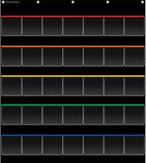 Teacher Chart Storage Black Storage Pocket Chart Tcr20844