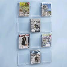magazine rack office. 12 pocket clear magazine literature holder documentu0026file organizer rackwall mounted acrylic rack for office r