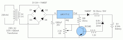 6v battery charger circuit diagram the wiring diagram 6v 4 5ah battery charger circuit circuit diagram circuit diagram