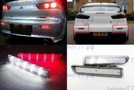 <b>Катафоты заднего</b> бампера, <b>LED светодиодные</b>, прозрачный ...
