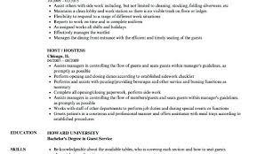 hostess sample resume sample hostess resume vitadance me
