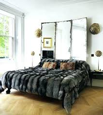 seal rabbit faux fur duvet cover set grey panther faux fur duvet cover set lynx faux