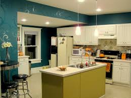 budget kitchen updates accent wall faux painted backsplash